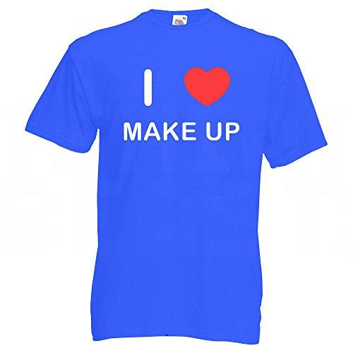 I love Make Up - T Shirt Blau