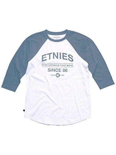 Etnies Herren T-Shirt FRONTAGE RAGLAN Blau - Blue (Blue/White)