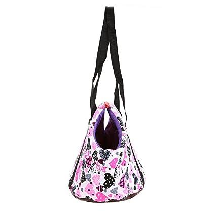 Pet Handbag Dog Canvas Carrier Bag Foldable Washable Travel Carrying Shoulder Bag for Small Medium Pets (S, White) 6