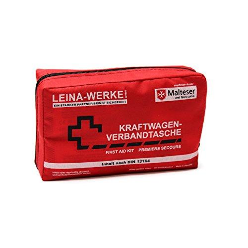erste hilfe auto set Leina 11008 Verbandtasche Compact ohne Klett, Rot / Schwarz / Weiß