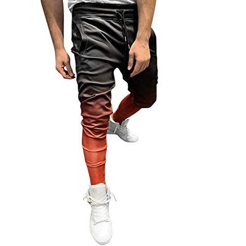 serliyHerren Jogginghose | Trainingshose für Sport Fitness Gym Training Slim Fit Sweatpants Streifen Sweatpants Jogging-Hose Stripe Pants