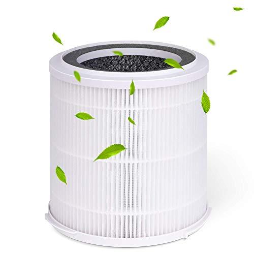INTEY LW-01 Ersatzfilter für Luftreiniger, Hocheffizienter HEPA und Aktivkohlefilter
