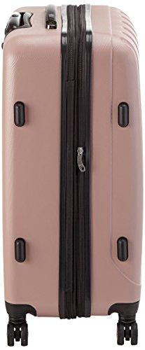 Packenger Koffer - Velvet (XL), Mauve, 4 Doppelrollen, 112 Liter, 72cm, Koffer mit TSA-Schloss, Erweiterbarer Hartschalenkoffer (ABS) robuster Trolley Reisekoffer - 4