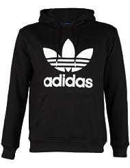 adidas - Sudadera con capucha - para hombre multicolor negro/blanco Talla:large