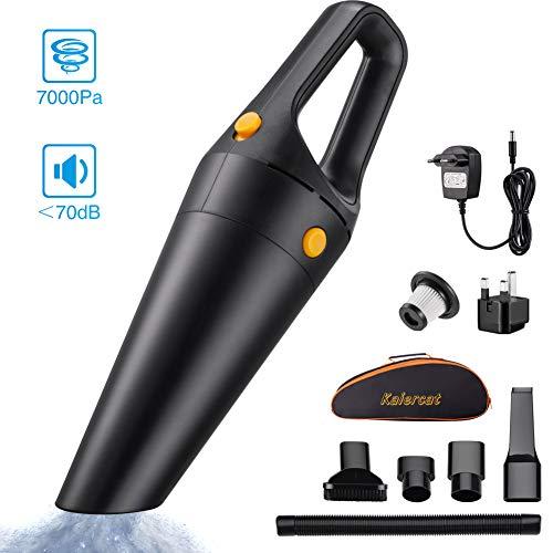 Aspirapolvere senza fili, wango® aspirapolvere per auto portatile ad alta potenza di aspirazione 7kpa, aspirapolvere leggero & ricaricabile asciutto e bagnato per casa & auto