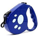 kocykoi Einziehbare Hunde Kette mit leicht-Auto-hundegurt schwer Duty Langen Gewirr-Freien Traktions Gurt Kleiner und Mittlerer Hund (blau)