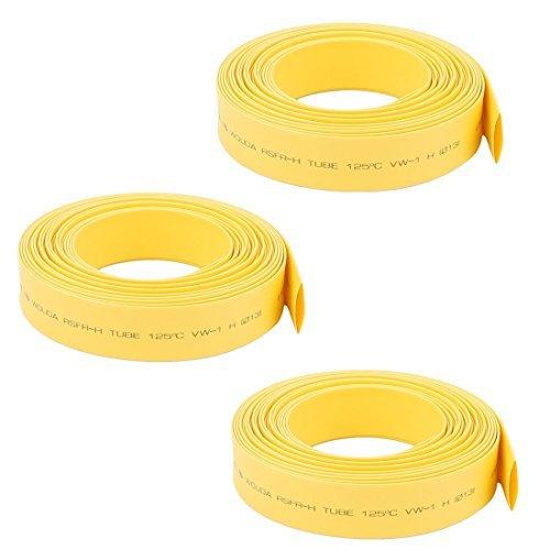 Sourcing map Tube thermor/étractable 2:1 pour c/âble disolation /électrique Transparent 1,5 mm de diam/ètre 1 m