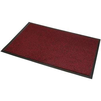 jvl robuster rutschfeste barrier t r fu matte 80 x 120 cm rot schwarz k che haushalt. Black Bedroom Furniture Sets. Home Design Ideas