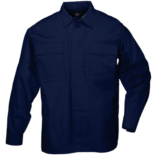5.11 Tactical # 72054 Taclite TDU Long Sleeve Shirt, damen Herren, dunkles marineblau