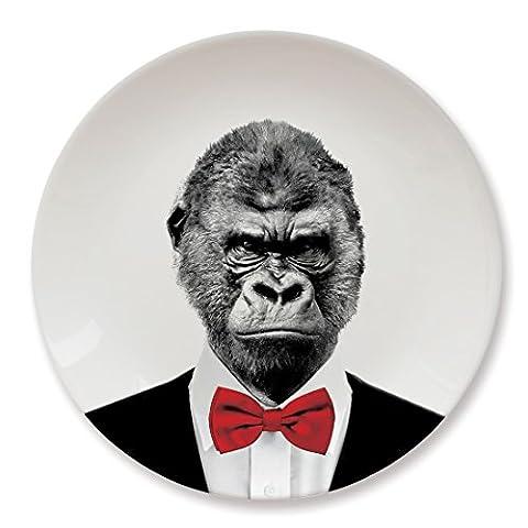 MUSTARD Ceramic Dinner Plate I Dishwasher safe I Dinnerware - Wild Dining Gorilla