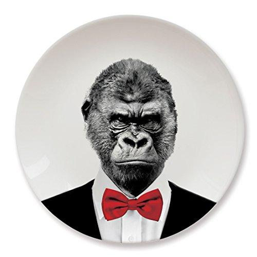 Mustard Keramik Teller - Wild Dining Gorilla