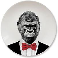 Mustard 12006A Piatto da Portata Ceramica - Bianco Wild Dining Gorilla