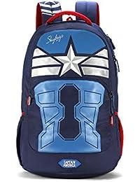 Skybags Sb Marvel 31.482 Ltrs Blue School Backpack (SBMAE02BLU)