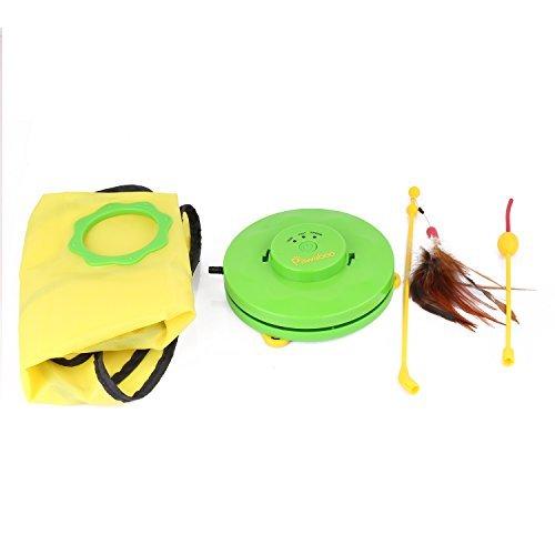 Pawaboo Haustier Spielzeug, Undercover Maus Elektronische Interaktive Katze Spielzeug - Grün & Gelb