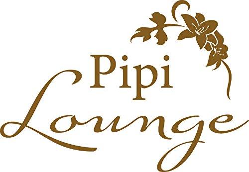 GRAZDesign 'Wandtattoo für Dekoration von Porte de Toilette Blumen und PIPI Lounge