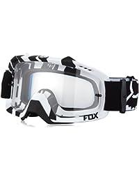 FOX Motocross MX Gafas - AIR DEFENSA - Cebra - blanco y negro