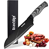 """Bravedge Kitchen Knife Chef Cooking Knife Versatile Santoku Knife with 7"""" Sharp Stainless"""