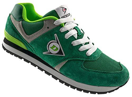 Dunlop Arbeitsschuhe Sneaker Damen - Berufsschuhe mit Rutschfester Sohle Grün Größe 40