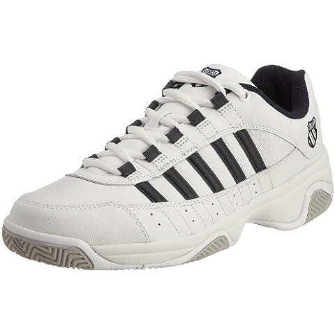 K-Swiss OUTSHINE EU~WHITE/NAVY~M 01120-109-M - Zapatillas de tenis de cuero para hombre