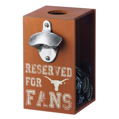 Preisvergleich Produktbild Team Sports America Texas Wooden Bottle Opener Cap Caddy by Team Sports America