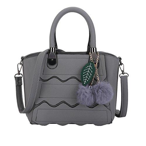 DISSA S896 neuer Stil PU Leder Deman 2018 Mode Schultertaschen handtaschen Henkeltaschen,260×135×200(mm) Grau