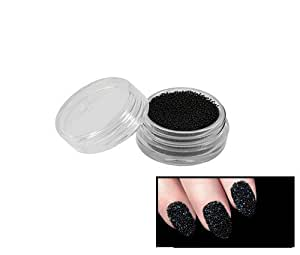 Pot Perles billes caviar Noir - Pour un effet vernis caviar - nail art