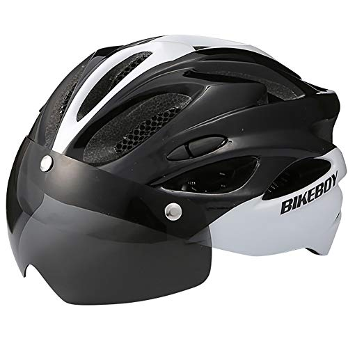 CHB Radsport-Muchen-Bike-Brille Gläser One Female Road Bike Safety Hat Fahrrad-Ausrüstung Outdoor Riding Helm Street Bike Racing Helmet,01