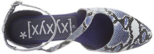Xyxyx Sandale, Sandales Bride cheville femme Bleu - Blau (navy/black)