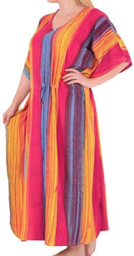 La Leela tie dye beachwear maillots de bain rayonne nightwear caftan robe de plusieurs des femmes couvrir Rose