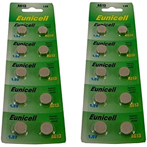 20x Eunicell AG13G13SR44LR44A76V13GA PX76A 357pilas alcalinas [Reloj]