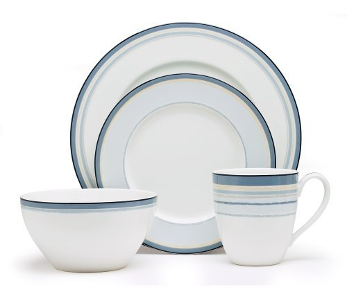 Noritake Java-graphit (Noritake Java Graphite Swirl 4-Piece Place Setting by Noritake)