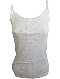 Thermal New Women Ladies Soft Ivory Color Thin Strap Winter Warm Underwear Vest
