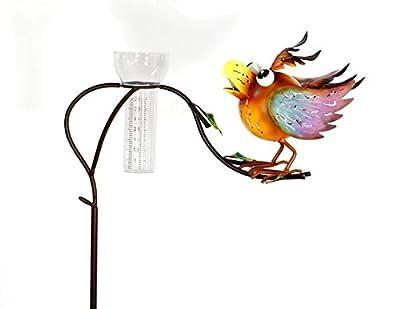 Regenmesser mit Vogel, Gartenstecker Gartendeko von Geschenk-Himmel - Du und dein Garten