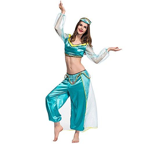 Costour Damen Halloween Kostüm Aladdin Arabische Prinzessin Partykleidung Aufführung Cosplay ()