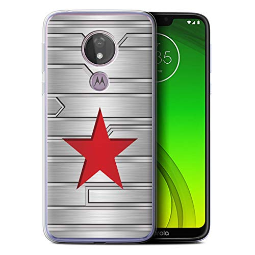 eSwish Gel TPU Hülle/Case für Motorola Moto G7 Power/Winter Soldier Inspiriert Muster/Antiheld Comic-Kunst Kollektion - Power Gel Case