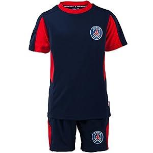 PSG Ensemble Short et Tee Short Junior PSG Taille 4 Ans Paris Saint Germain Licence Officielle