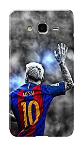 Samsung Galaxy On7 Black Hard Printed Case Cover by HACHI - Messi Football Fans design
