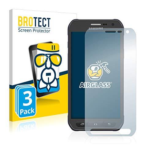 BROTECT Panzerglas Schutzfolie kompatibel mit Samsung Galaxy S6 Active SM-G890A [3er Pack] - 9H Panzerglasfolie