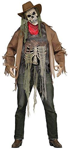 Wanted: Dead Or Alive Zombie 3D Kostüm für Herren Horror Cowboy Halloween, (Cowboy Halloween Kostüme)