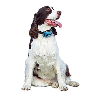 ?MODÈLE 2018?Collier de dressage anti-aboiements pour chiens de moyenne à grande taille pesant entre 7 kg et 68 kg. Apprentissage en toute sécurité et en douceur grâce à l'émission de sons et de vibrations. Réglages de sensibilité et d'intensité sur 7 niv