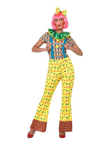 SMIFFY 'S 47350s Giggles der Clown Lady Kostüm, Damen, Mehrfarbig, klein, UK 08-10