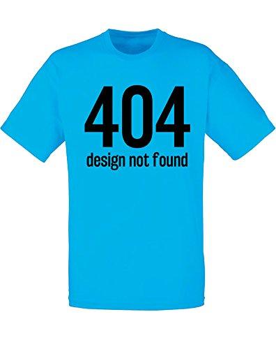 Design Not Found, Imprimé des hommes T-shirt - Azur/Noir S = 89-94 cm