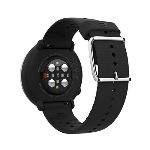 Polar Ignite - Reloj de fitness con GPS integrado, pulsómetro de muñeca, guías de entrenamiento - hombre/mujer - negro M/L