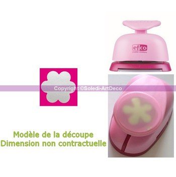 Efco Perforadora Papel diseño pequeño Flores, Rosa
