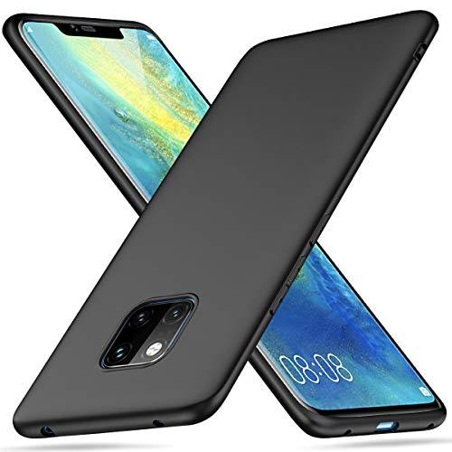 Peakally Huawei Mate 20 Pro Hülle, Matte Oberfläche Soft Hüllen [Ultra Dünn] [Kratzfest] TPU Schutzhülle Case Weiche Handyhülle für Huawei Mate 20 Pro -Schwarz