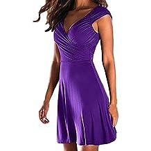 Vestido de Fiesta para Mujeres,Vestido de Noche sin Mangas con Cuello en