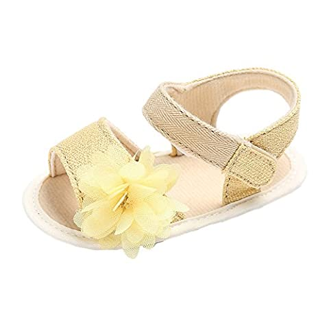 pour 0-18 Mois Bébé, Reaso Chaussures Bébés Filles Fleurs (13cm,