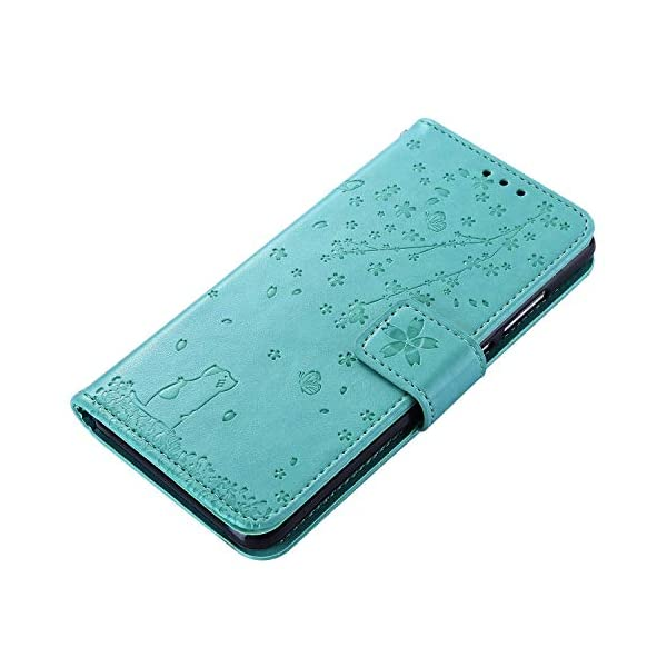 Uposao Compatible with Samsung Galaxy Note 10 Plus Case Leather Wallet Cover Cherry Flower Cat Embossed Pattern Shockproof Flip Case with Card Holders Magnetic Closure Stand Lanyard,Green Uposao Compatible Model: Samsung Galaxy Note 10 Plus Package:1 x Wallet Case Cover,1 x Black Stylus Touch Pen Provides optimal protection from everyday bumps, knocks, drops, chips, dirt, scratches and marks without adding bulk to your phone and ensures that your device remains protected, safe and secured at all times. 6