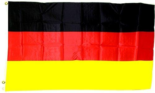 MM Deutschland Fahne/Flagge, mehrfarbig, 250 x 150 x 1 cm, 16116