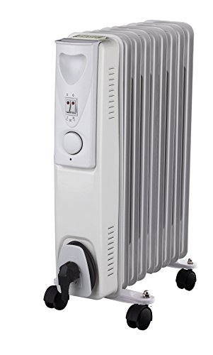 Daewoo Weiß 2000W Elektro Heizung Ölradiator (2000 Watt, 3 Heizstufen, Thermostat)